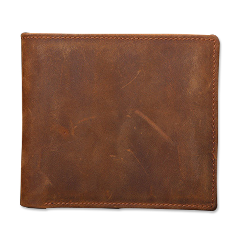 Men Wallet Crazy Horse Genuine Leather Purse Money Vintage Luxury Brand Short Slim Card Holder Dollar Price Cash 2017 Wallets