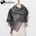 Ladybro 2016 Winter Women Scarf Luxury Brand Lady Bohemia Blanket Scarf Female Shawls Scarves And Stoles Thick Warm Big Foulard