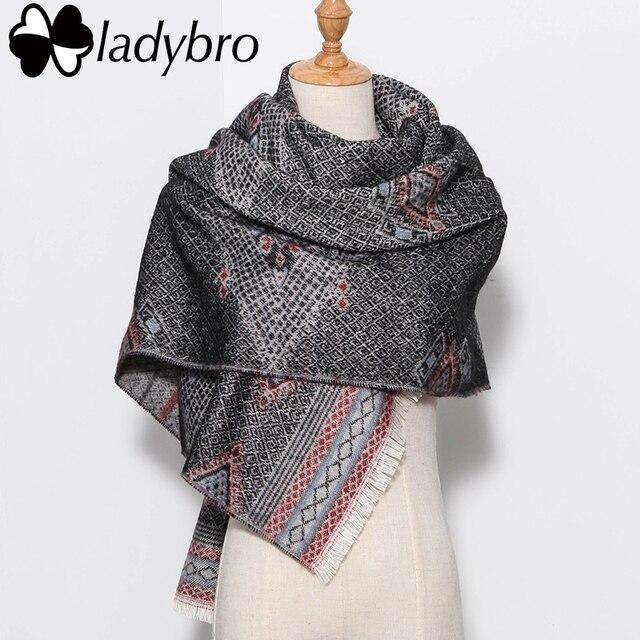 Ladybro 2016 Winter Women Scarf Luxury Brand Lady Bohemia Blanket Scarf Female Shawls Scarves And Stoles Thick Warm Big Foulard