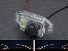 цена на Trajectory Tracks 1080P Fisheye  Car Rear view Camera for Toyota Land Cruiser Prado 2700 4000 120 Series 2002 2003 2004 - 2006