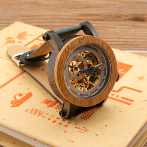 Image 2 - BOBO BIRD Top Brand Luxury Automatic mechanical Casual Watch Mens Skeleton Bamboo Wooden With Steeling In Wooden Gift Box
