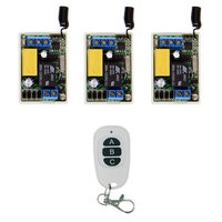 Mini Size 220V 1CH 1CH 10A Wireless Remote Control Switch Relay System 315MHZ 3 Receivers 3CH