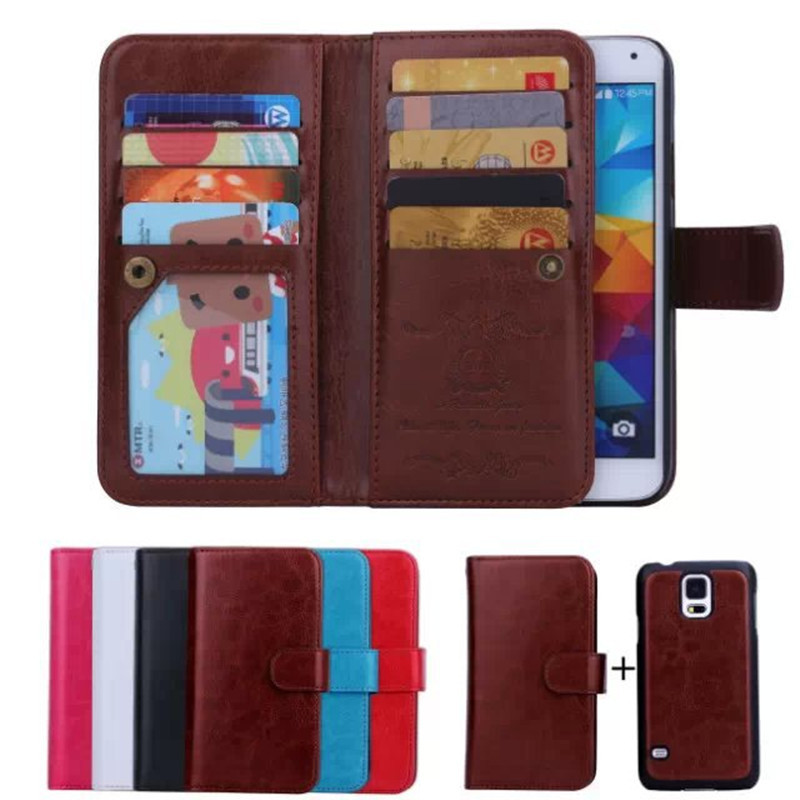 huge selection of 179ae fb394 Luxury Crazy Horse Wallet Leather Case For Samsung Galaxy S5 Neo G903F  G903W G900H G901F Magnet Phone Cover Multi card slots