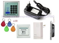 125k ID card Electric blot drop Lock Access Control RFID keyword access control system kit
