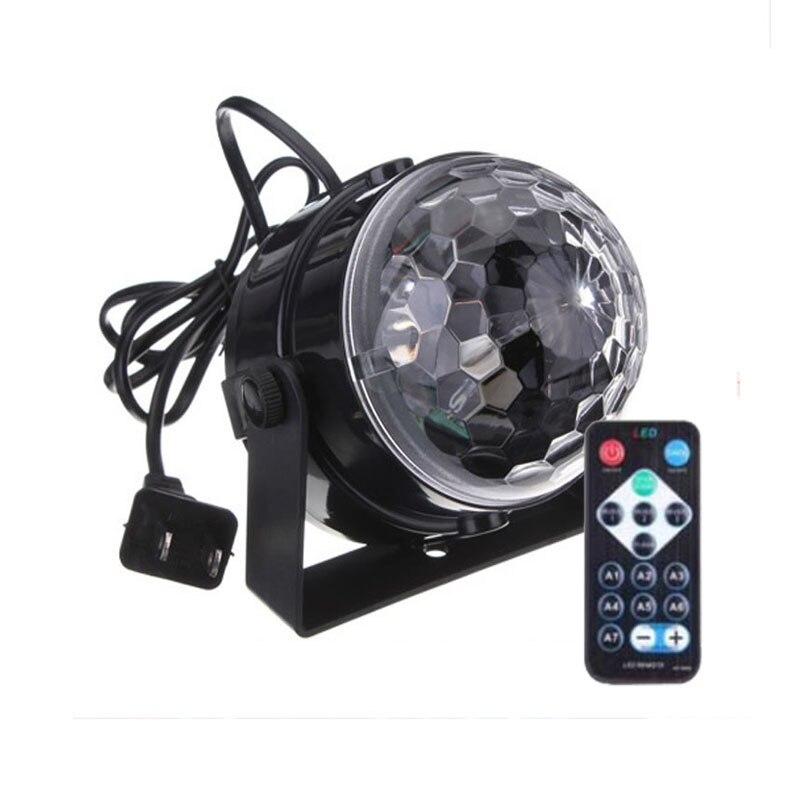 Splevisi мини этап магический Disco Ball лампы Эффект Вращающийся DJ вечерние Lazer светодиодный света RGB с пульта дистанционного управления