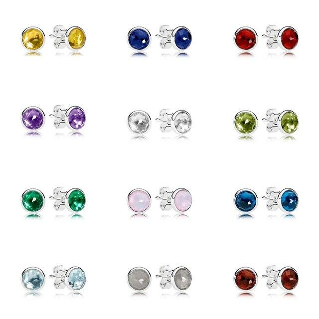 12 Color 1 Pair Women Ear Studs Star Shining Starry Sky Crystal Diy Earrings High Quality Earring Women Wedding Jewelry