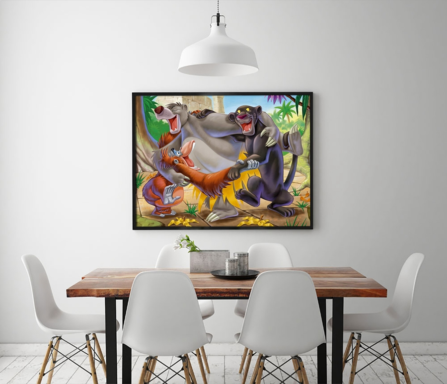 A1228 The Jungle Book Childrens cartoon film, HD Canvas Print Home decoration Living Room bedroom Wall pictures Art painting