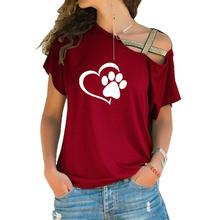 Beautiful Heart & Paw cross-shoulder women's blouse