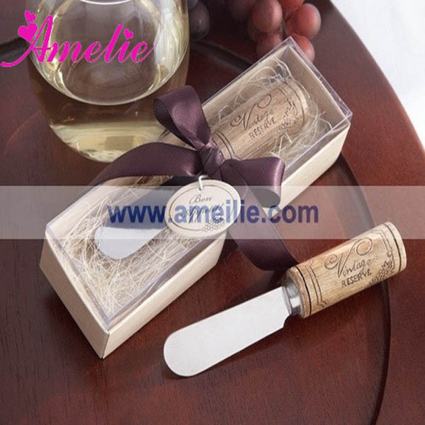 wholesale wedding favors wooden handle butter knife