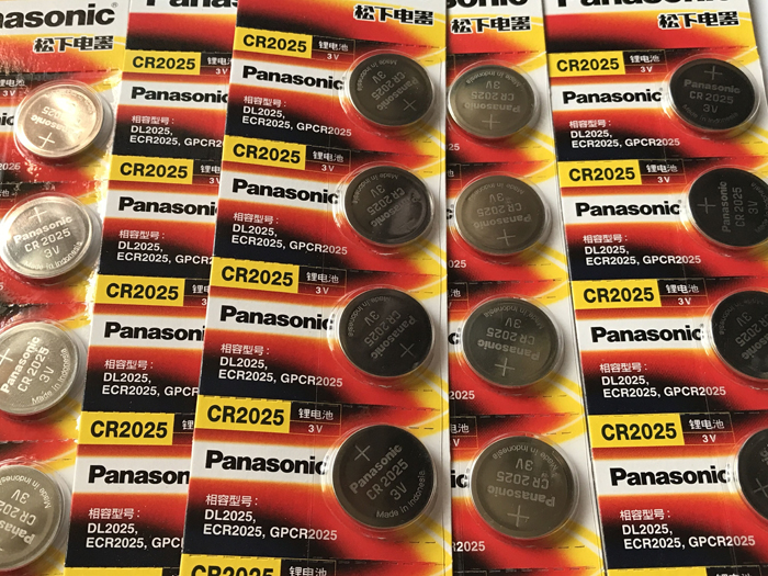100PCS LOT New Original Panasonic CR2025 2025 3V Button Cell Battery Coin Batteries For Watch Computer Free Shipping in Button Cell Batteries from Consumer Electronics