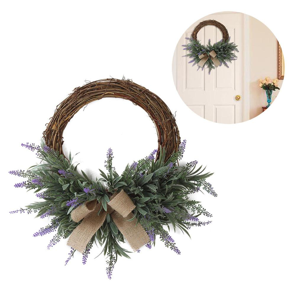 Artificial Flower Decoration Garland Ornament Wreath Door Vivid Realistic Elegant