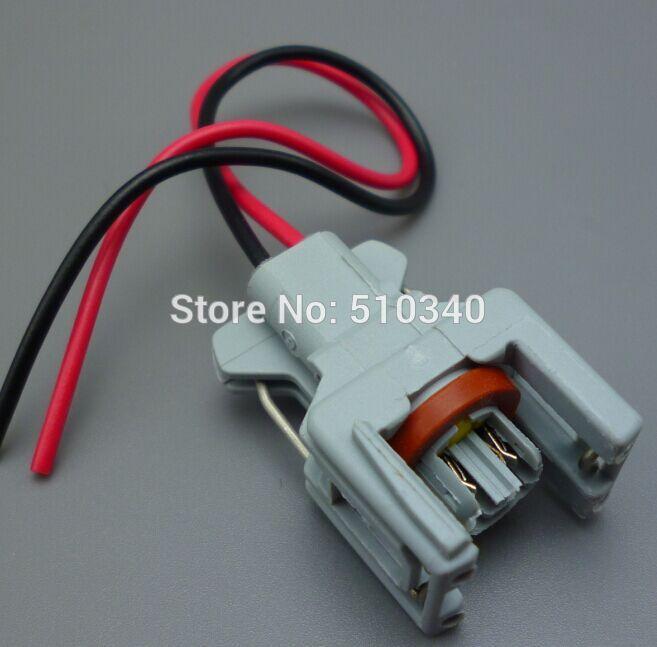 imágenes para 50 sets 2Pin conector Auto inyector de combustible/boquilla/atomizador de aceite enchufe, enchufe Eléctrico para Delphi conectores Coche