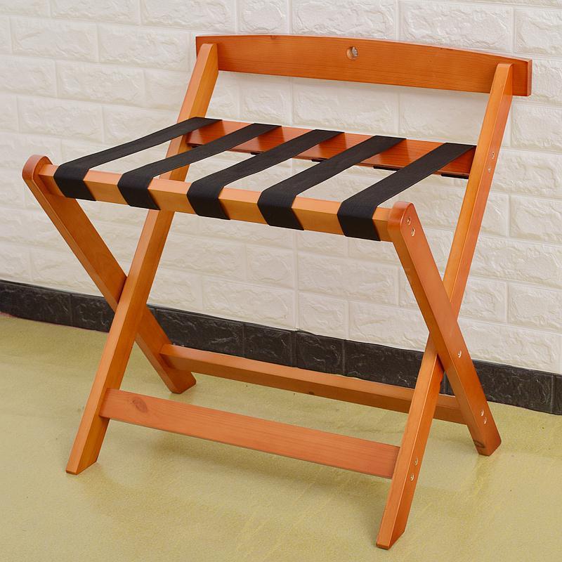 Гостиничная багажная полка мебель для отеля вешалка для спальни напольная Складная Бытовая прикроватная вешалка для одежды деревянный - Цвет: 60x50x65cm