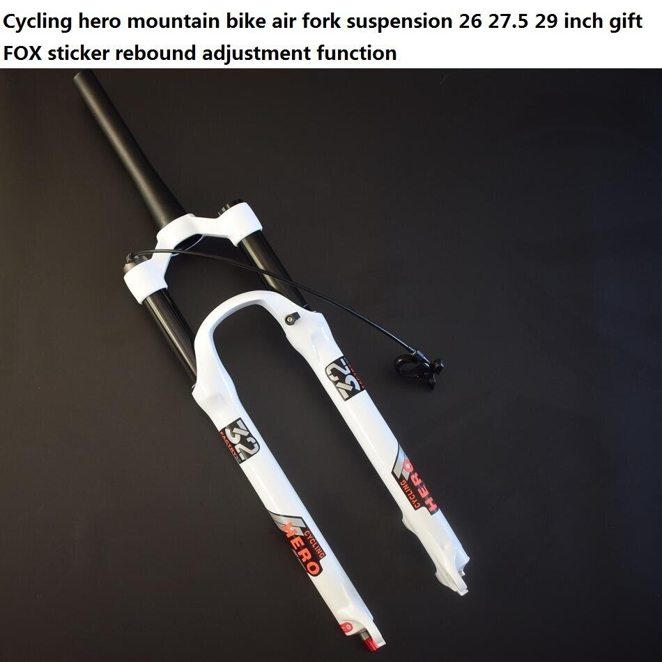 Rechte pijp (1 1/8) Kegel pijp (1 1/2) luchtvering mountainbike vork Plug 26 27.5 29 inch Gift VOS sticker Super SR SUNTOUR - 3