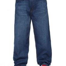 Новинка! для мужчин бренд ROCAWEAR модные улица хип-хоп танцы доска джинсы для женщин плюс размеры мотобрюки темно синий! 30-46