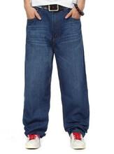 NEW ! 2014 Men Brand ROCAWEAR Fashion HIPHOP Street Dancing Board Jeans Plus Size Trousers dark blue ! 30-46
