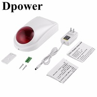 Dpower Wireless Door Detectors Strobe Siren Remote Control 433mhz 315MH Frequency 20 Channel Monitoring Emergency Alarm