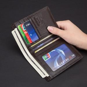 Image 5 - Laorentou Men Wallet Genuine Leather Casual Wallet for Men Short Wallet Standard Wallets Card Holders Vintage Luxury Man Purse