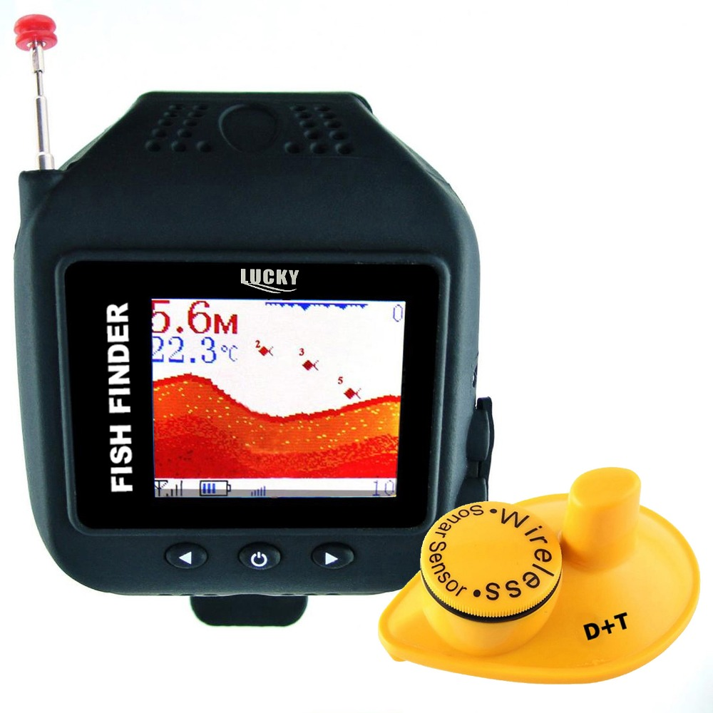 LUCKY 197FT 60M Range Sonar Fish Finder Watch Type Wireless echo sounder Fishfinder Portable Fishing Sounder Fishing Tackle цена 2017