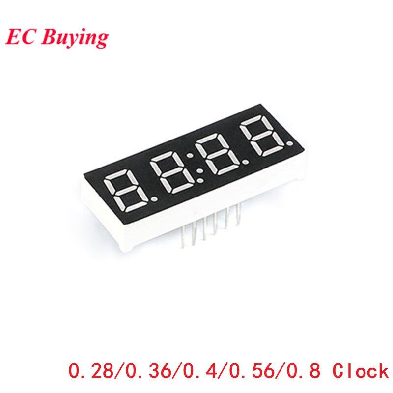 5 pcs 디지털 튜브 4 비트 디스플레이 시계 일반적인 양극 일반적인 음극 0.28 0.36 0.56 0.8 인치 4 비트 7 세그먼트 빨간색 전자 diy