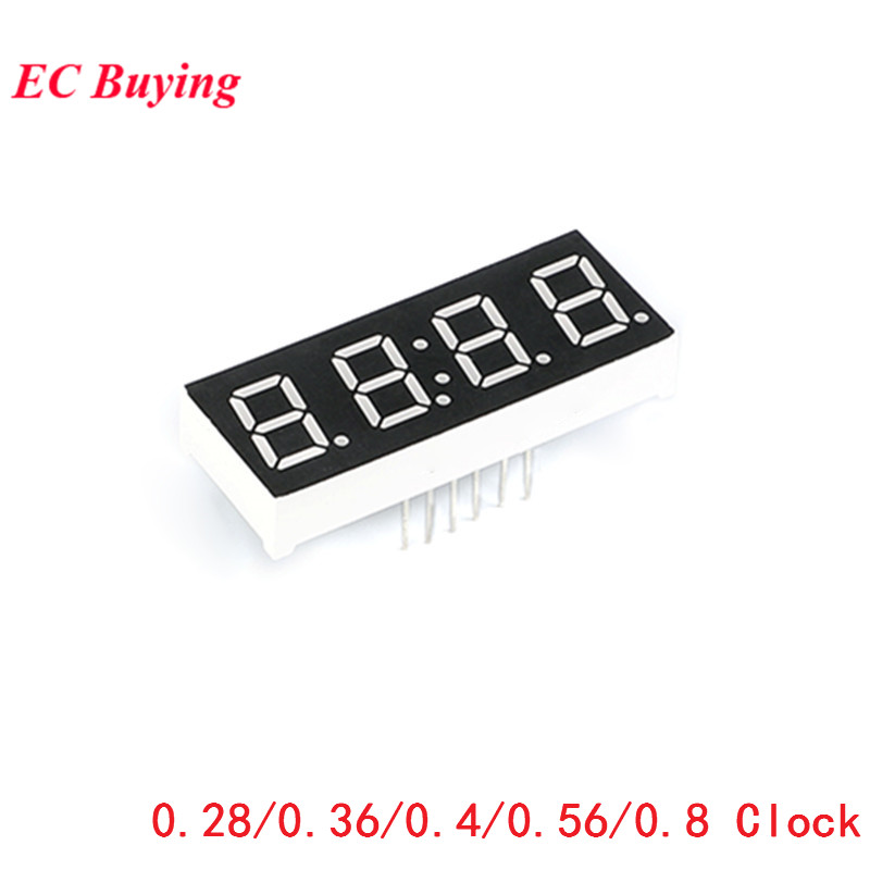 5Pcs Digital Tube 4 Bit Display Clock Common Anode Common Cathode 0.28 0.36 0.56 0.8 Inch 4Bit 7 Segment Red Electronic Diy