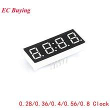 Clock Display Digital-Tube 4bit Common Anode 7-Segment Diy Red 5pcs Electronic