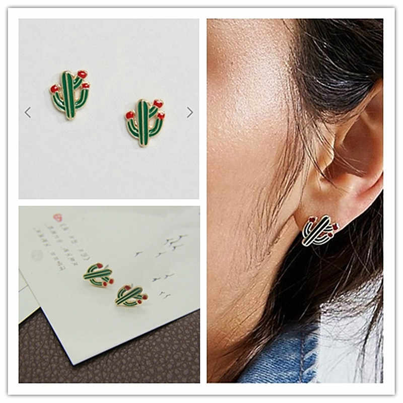Timlee E080 Sweet Drops Of Oil  Fashionable Cactus Exquisite  Studs Earrings,Fashion Jewelry.
