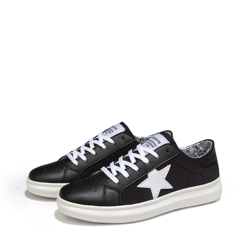 d347802ad05447 2017 New Fashion Men Casual Shoes Brand Designer Leather Canvas All Black  White Shoe Man Trainers zapatillas deportivas hombre-in Men s Vulcanize  Shoes from ...