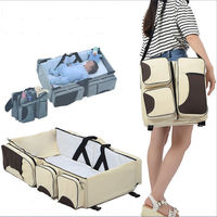 LoveCCD Baby 3 in 1 Portable Bassinet Cot Mummy Travel Bag Diaper Bag and Change Station