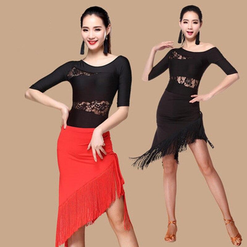 Sexy Women Latin Dance Skirts & Rhythm Salsa Cha Cha Tassels Tango Dress
