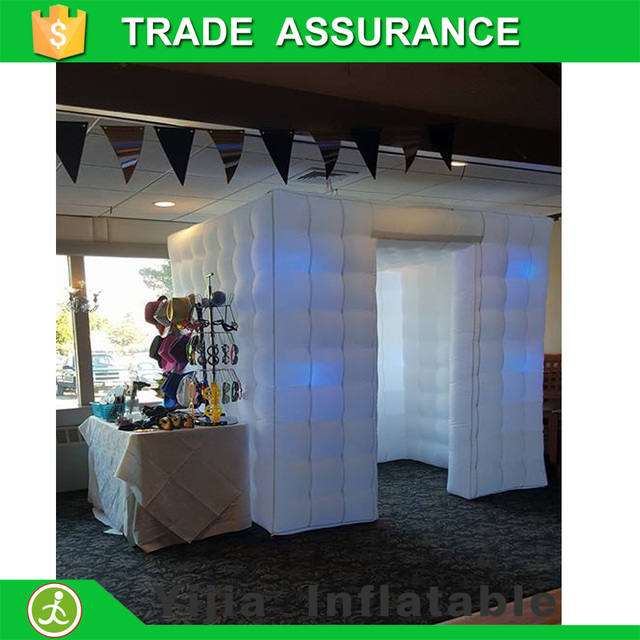 cheap Custom made 2 door square tent photo booth inflatable with led light & cheap Custom made 2 door square tent photo booth inflatable with ...
