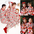 New XMAS Man Adult Family Pajamas Set Deer Sleepwear Nightwear Pyjamas