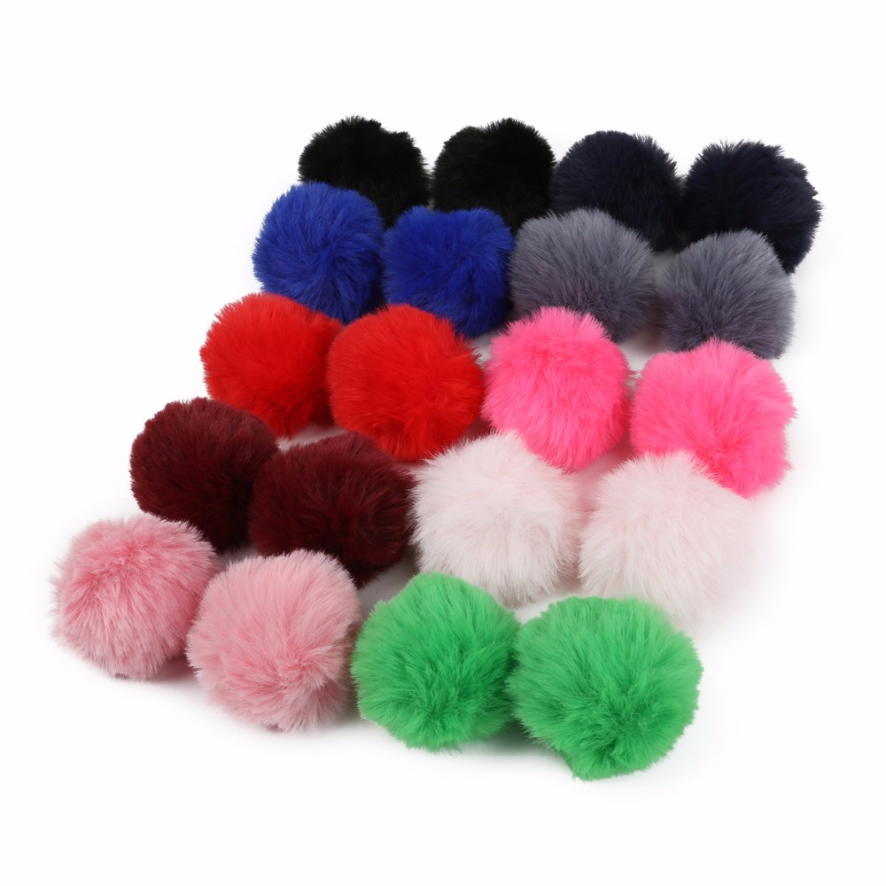 Vintage Fur Clothes Keyring 8 CM FAUX Soft Pom Fluffy Craft Ball Gift Charm Hat