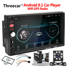 Universal 2din Android Car Radio Android reproductor multimedia Autoradio 7''Touch pantalla GPS Bluetooth WIFI auto reproductor de audio estéreo(China)