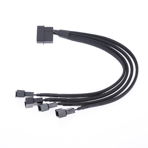 Image 1 - Fan Cable Splitter Power Cable 12V 27cm 4pin IDE Molex To 4 Port 3Pin/4Pin Cooler Cooling Fan Splitter Power Cable  For Computer