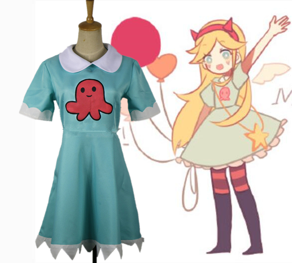 Star vs les forces du mal star butterfly Robe Cosplay costume custom made ////