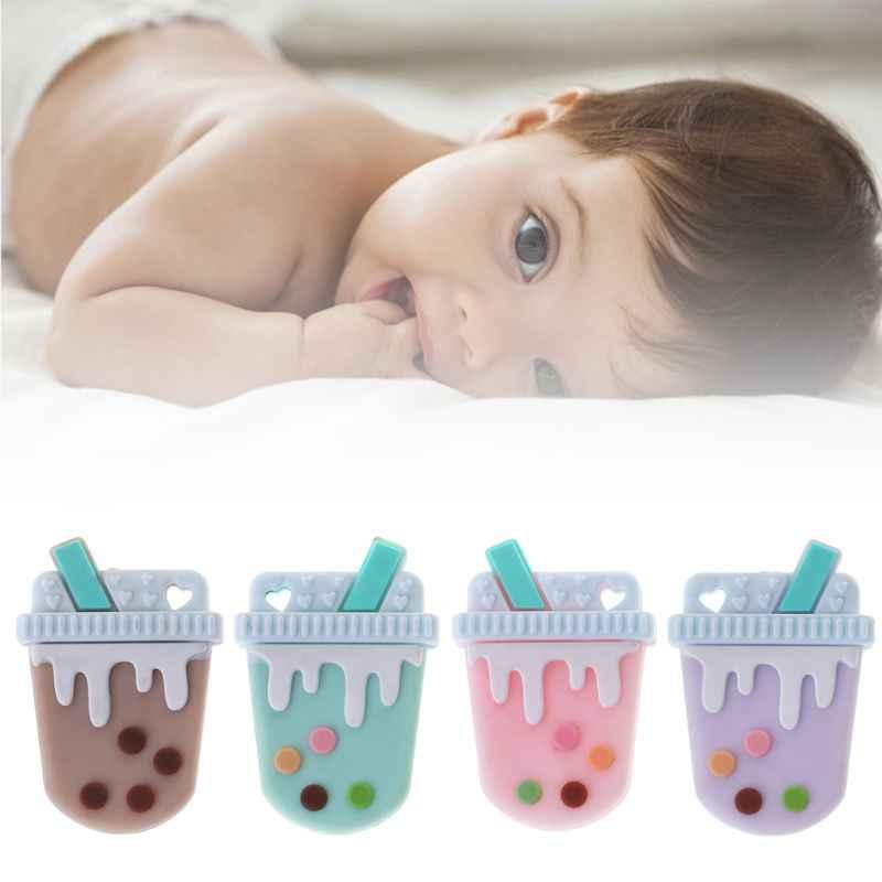 ลูกปัดซิลิโคน DIY Teething Baby Teether ชาตลกน่ารักที่มีสีสัน Oral Care ยาสีฟันสูตรเกลือผสมฟลูออไรด์ผสานพลังสมุนไพรฟันขาวสะอาดลดกลิ่นปากกัด Chew ทารกแรกเกิดอาหารปลอดภัยเกรดพยาบาลผลิตภัณฑ์