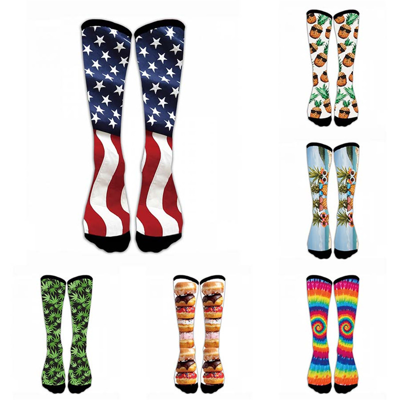 Women Funny   Socks   Cotton Colorful Harajuku   Socks   Fashion Printed Girls Long   socks   Donut pineapple Women's Meias   Sock   5S-D21