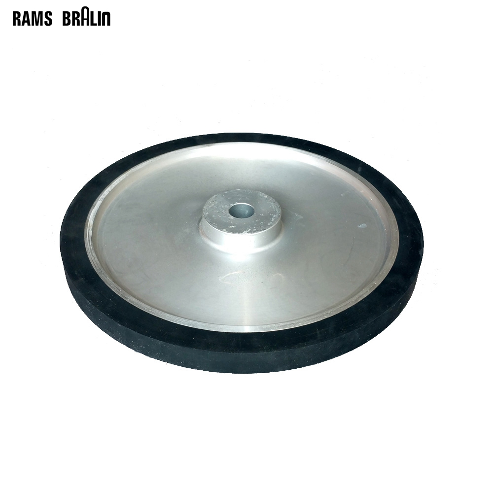 350*25mm Solid Rubber Contact Wheel Grinding Machine Part Abrasive Belts Kit lathe 25mm thickness 120mm x 25mm abrasive flap disc wheel