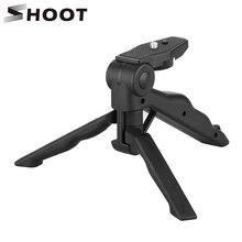 تبادل لاطلاق النار صغيرة محمولة ترايبود حامل ل GoPro بطل 9 8 7 5 أسود 4 جلسة شاومي يي 4K Sjcam Eken كانون نيكون سوني DSLR ملحق