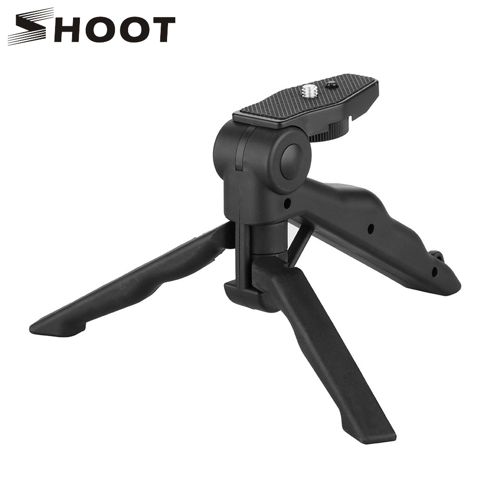 SHOOT Mini Portable Tripod Standable për GoPro Hero 7 6 5 Black 4 3 Session Xiaomi Yi 4K Sjcam Eken Canon Nikon Sony DSLR Aksesor