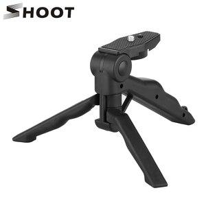 Image 1 - לירות מיני נייד חצובה Stand עבור GoPro גיבור 9 8 7 5 שחור 4 מושב Xiaomi יי 4K Sjcam eken Canon Nikon Sony DSLR אבזר