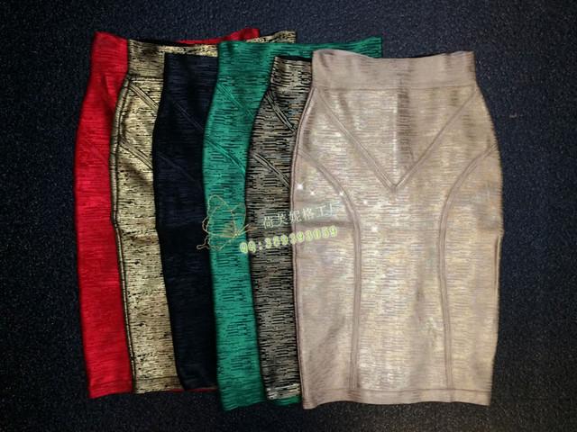 Fábrica al por mayor nueva falda de Una variedad de colores de Moda con Estiramiento Delgado Falda Lápiz Vendaje de la falda (H0465)