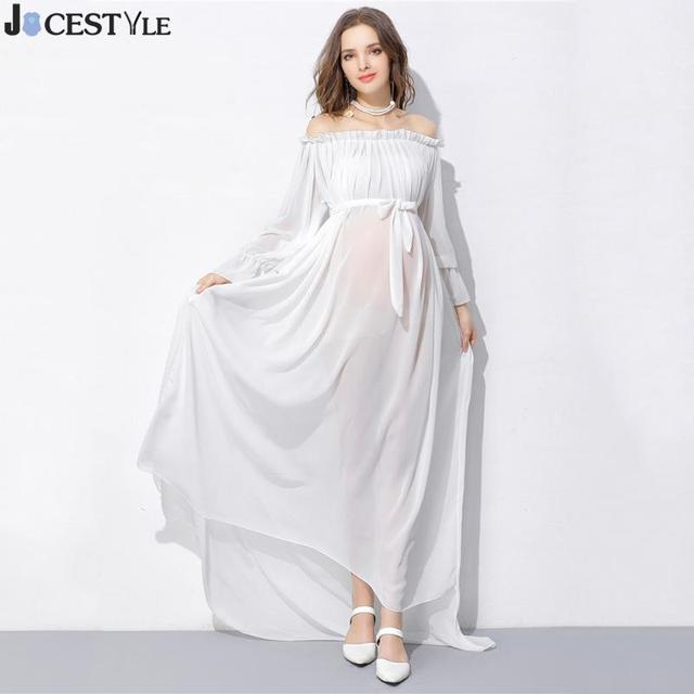 Maternity Dresses Maternity Photography Props Chiffon Off Shoulders ...