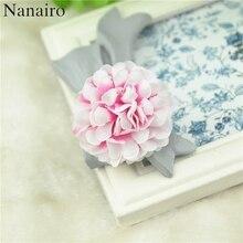 50 adet 4.5cm papatya Mini yapay ipek gül çiçek kafa düğün için DIY Scrapbooking ucuz sahte çiçek öpücük top