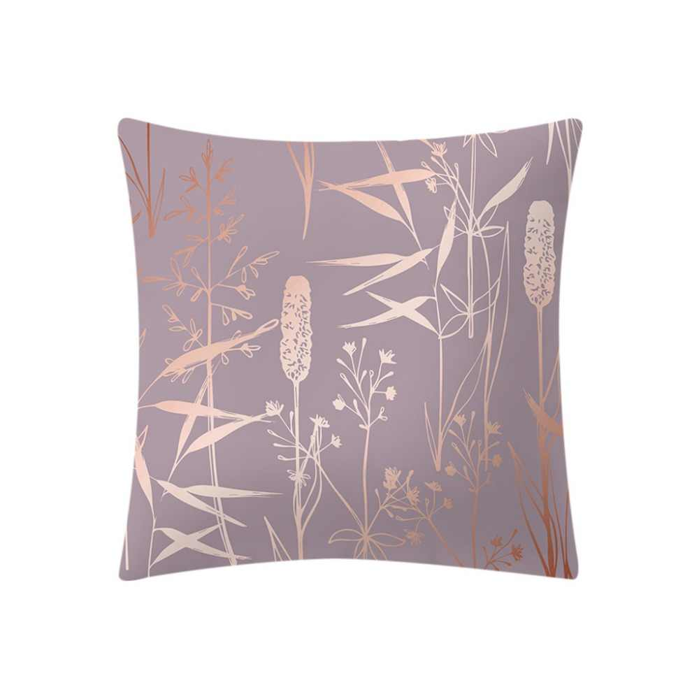 Rose Gold Pink Cushion Cover Square Pillowcase Home Decoratio Pillow Cases Bedding 45x45 cm Pillow Cases W606