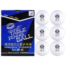 YINHE Galaxy 3-Star бесшовные мячи для настольного тенниса пластиковые 40+ ITTF одобренные белые Поли мячи для пинг-понга