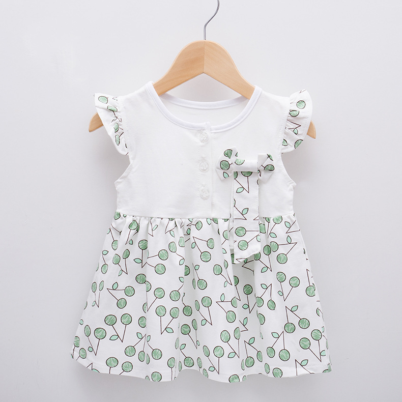 68ef63b24330 Cherry Baby κορίτσια φορέματα βαμβάκι νεογέννητο φόρεμα νήπια μωρά ...