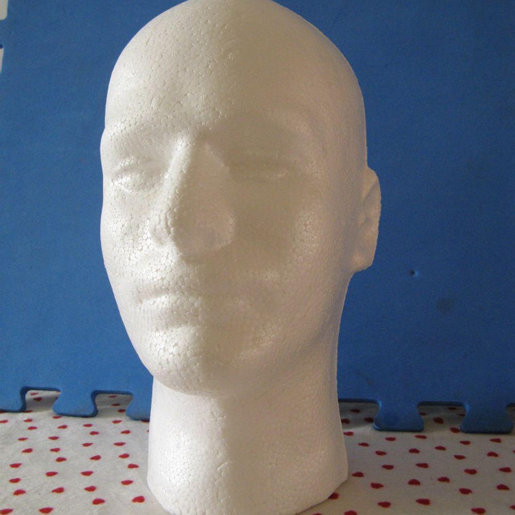 Дисплей для мужского парика голова манекена для косметологии, модель из пенопласта белого цвета| |   | АлиЭкспресс
