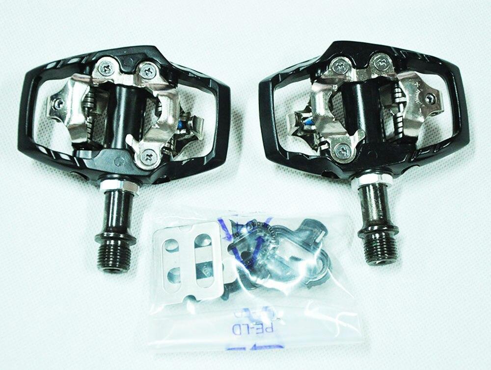 Original SYUN-LP M530 poids en alliage d'aluminium corps crmo axe titane axe oeuf beat XT SPD clipless vtt vélo pédale - 2
